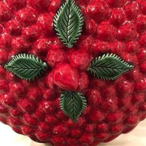 Other - Ceramic Strawberry Pie Keeper Covered Pie Plate